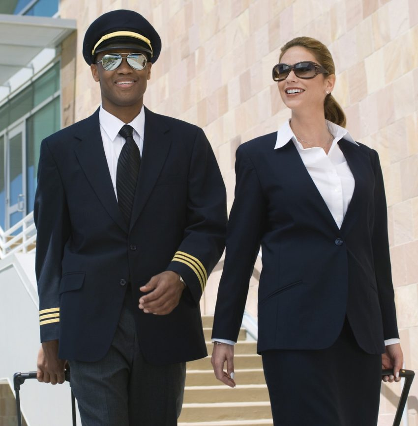 pilot - sako, kalhoty, stewardka - sako sukně
