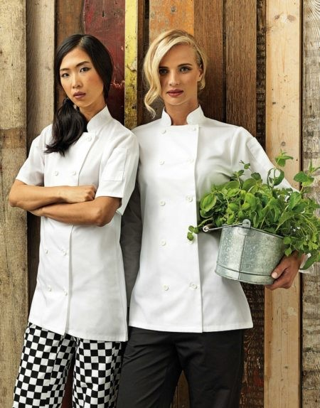 Rondony kucharske damske, bile