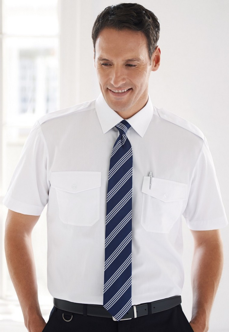 košile pilotka bílá