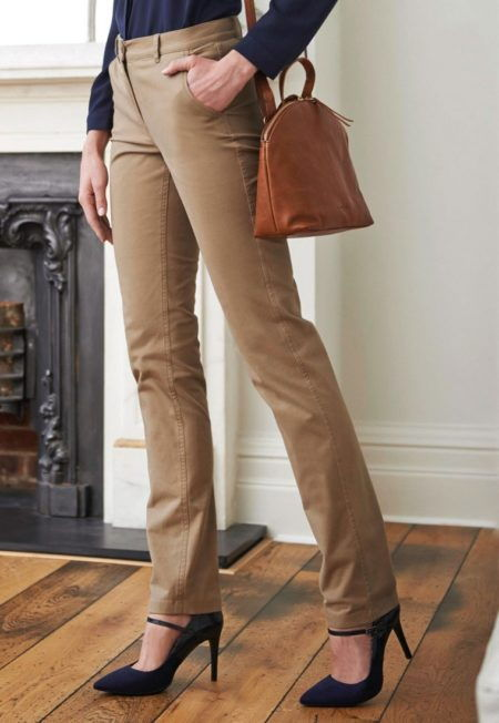 Pracovni kalhoty damske Chinos bezove