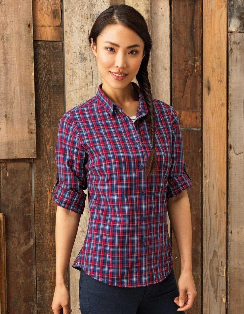 Pracovní košile dámské kostka