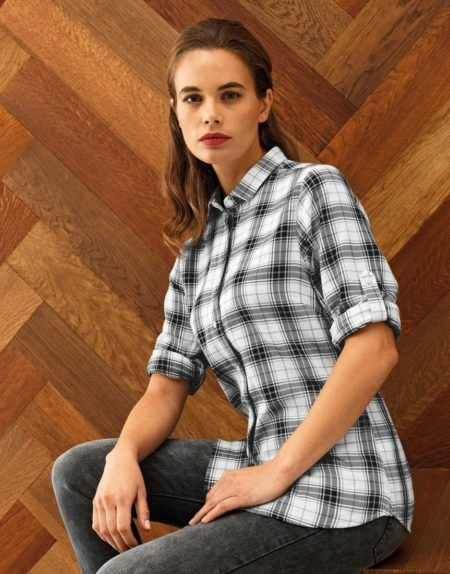 Pracovní košile dámské, kostka