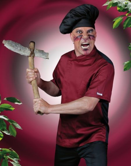 Pracovní oděvy, kuchařský rondon pánský, tmavě červený
