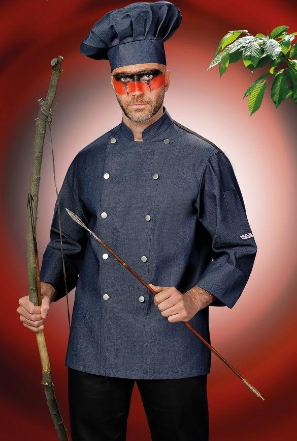 Pracovní oděvy, kuchařský rondon pánský, džínový