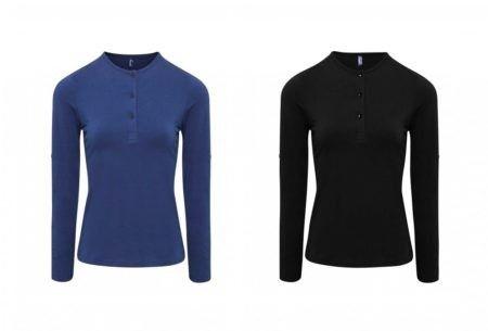 Pracovní tričko rolovací rukáv, černé, modré