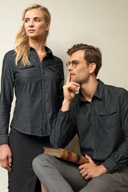 Pánské a dámské džínové košile