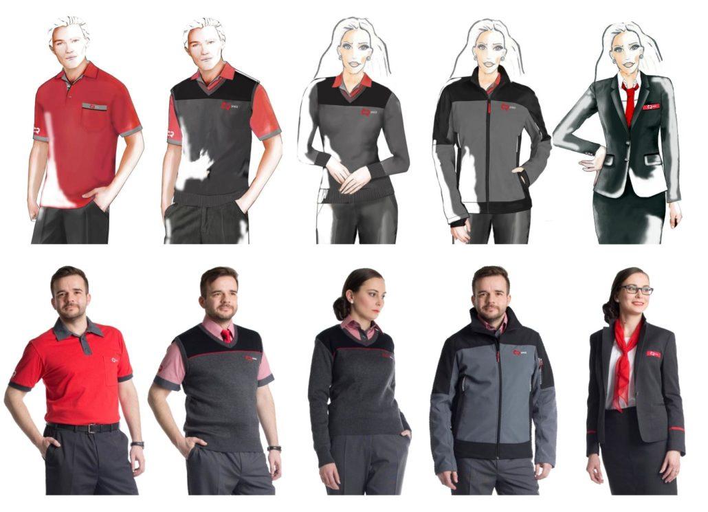 Pracovní oděvy - návrhy a realizace