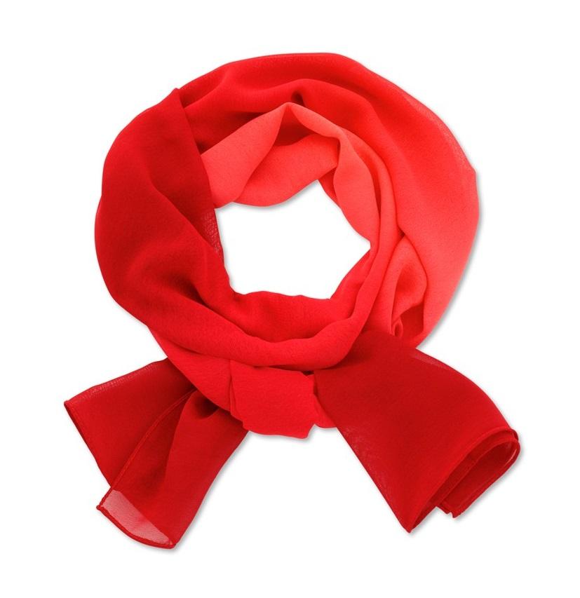 šátek dámský červený