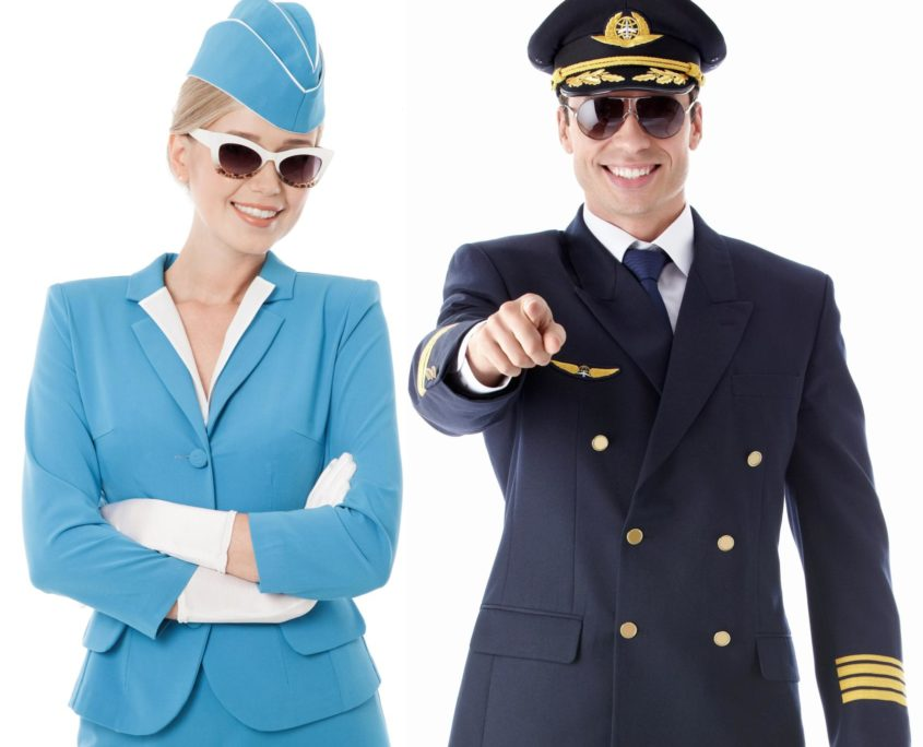 Letecké uiformy - saka, kalhoty, košile, kabáty, doplňky
