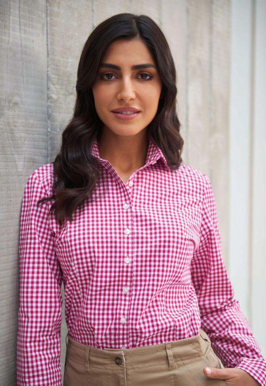 košile dámská kostkový vzor