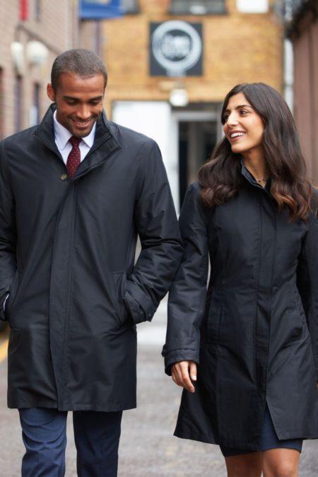 Kabát nepromokavý dámský pánský se zapuštěnou kapucí