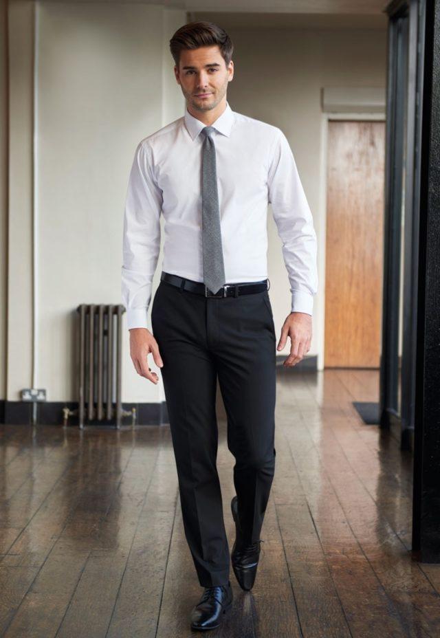 kalhoty pánské tailored fit, černé, tmavě šedé, tmavě modré