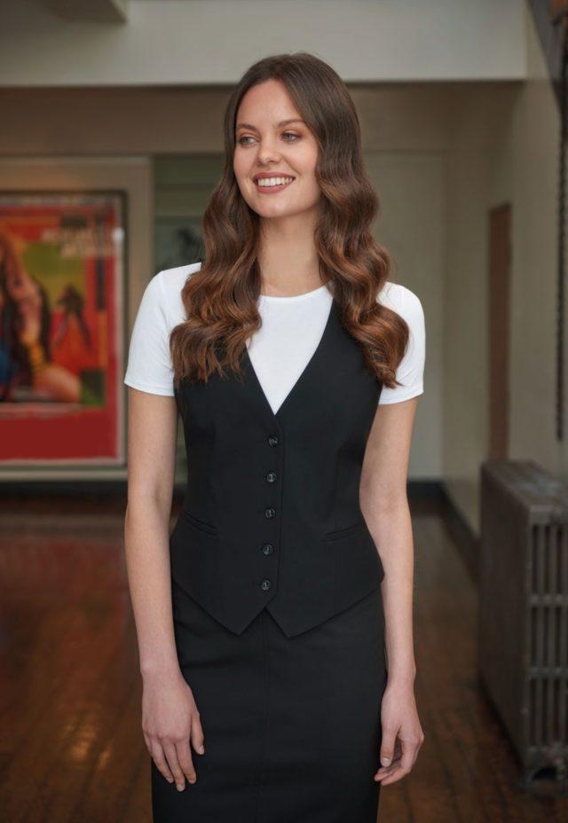 módní vesta dámská na 5 knoflíků