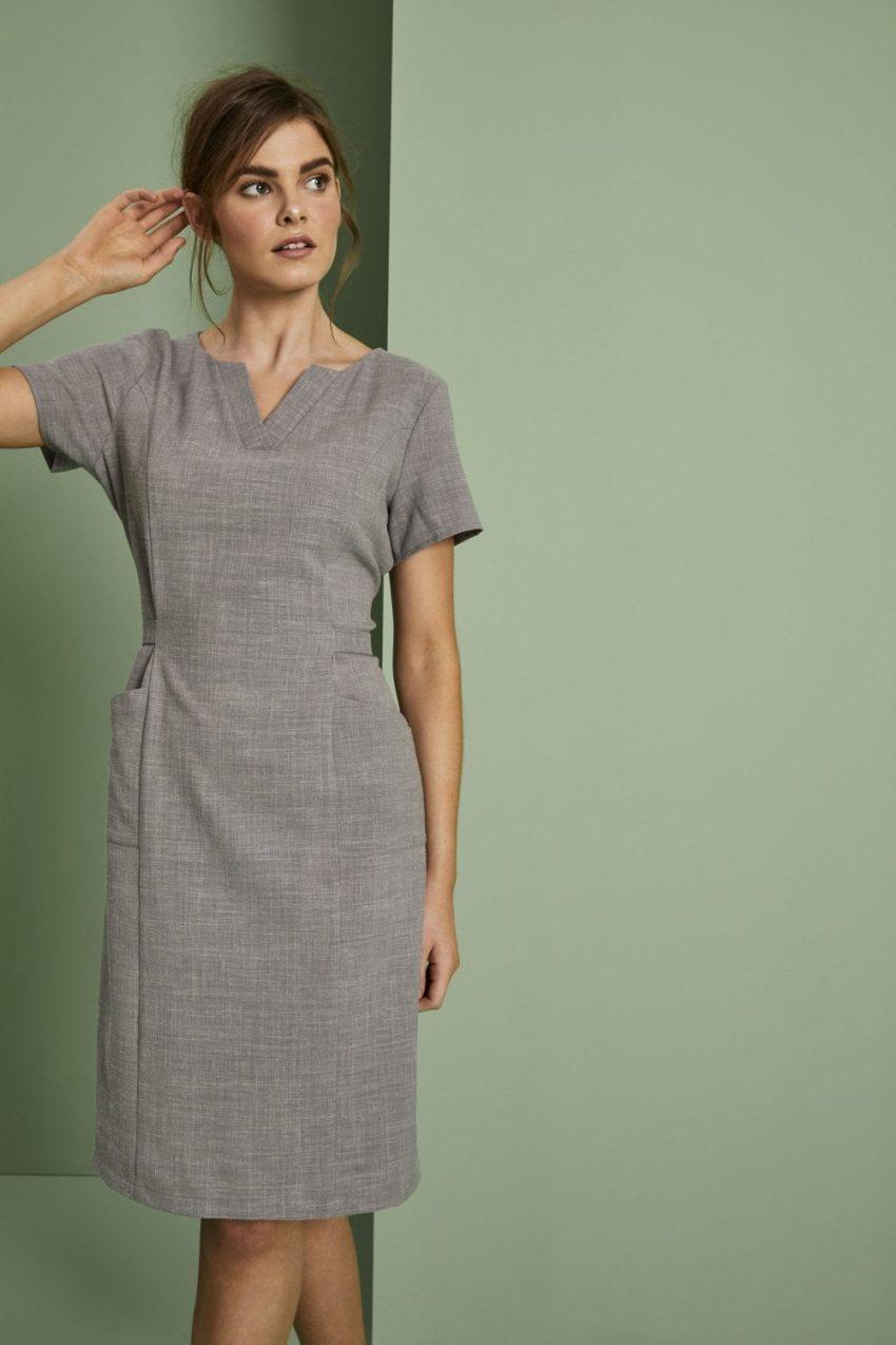 šaty dámské pracovní šedé - SPA, wellness