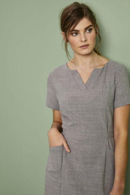 šaty pracovní dámské šedé - wellness, salony a SPA