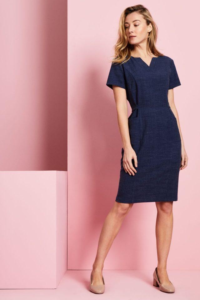 šaty pracovní modrý melír