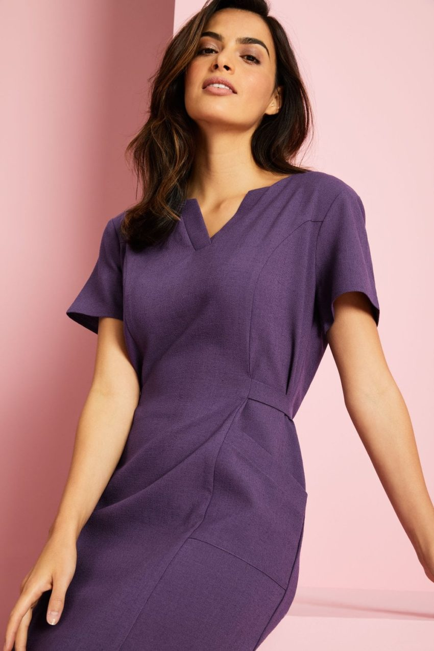 šaty pracovní fialové - SPA, wellness, lázně, salony