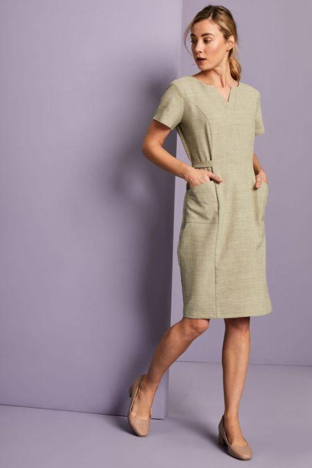 šaty dámské béžové pracovní