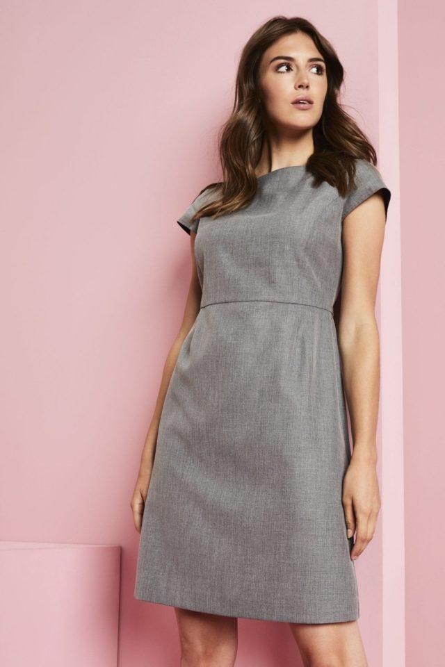 šaty dámské šedý melír