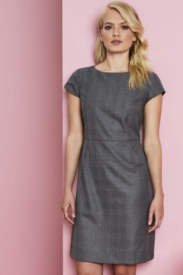 šaty dámské šedá kostka
