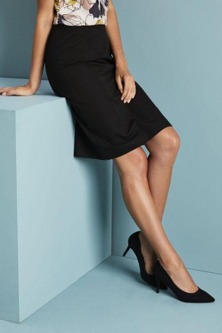 sukně dámská černý tvil