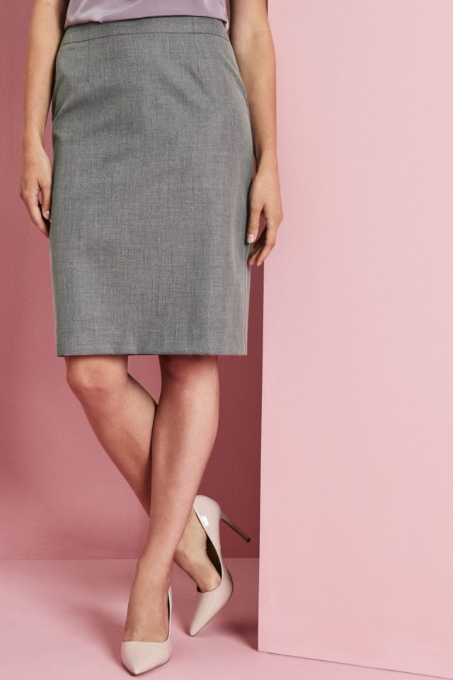 sukně dámská pouzdrová šedý melír