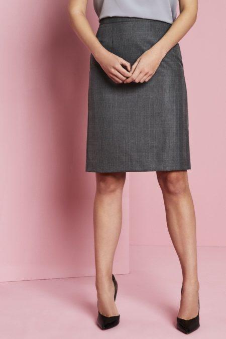 sukně dámská šedá kostka