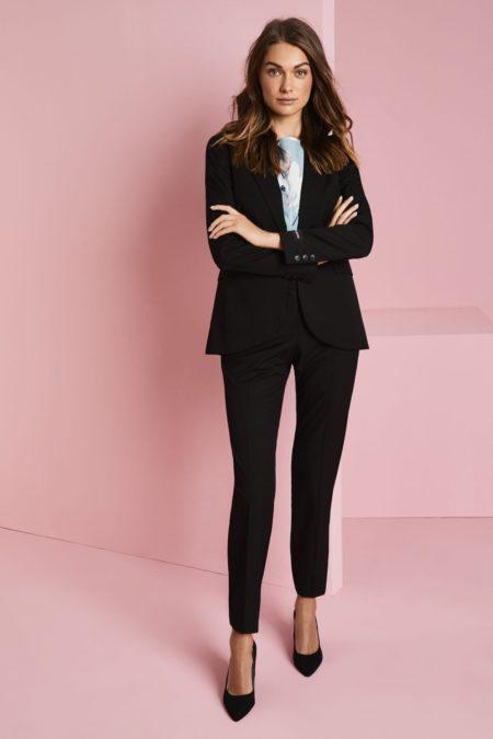 kalhoty dámské slim fit černé