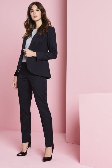 kalhoty dámské tmavě modrý proužek