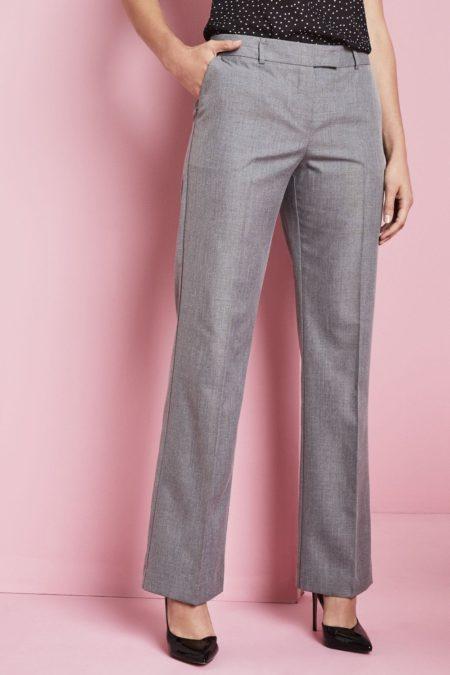 kalhoty dámské šedá kostka