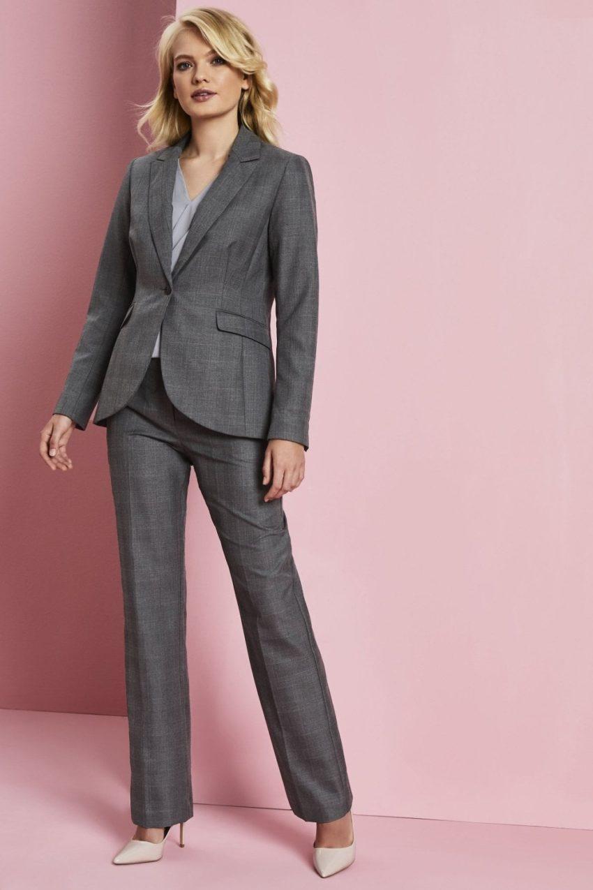 kalhoty dámské šedá kostkakostka