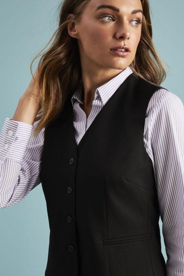 módní vesta dámská černá