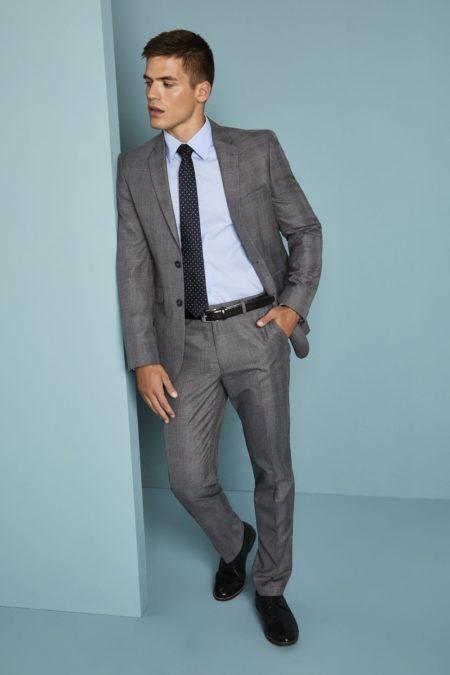 kalhoty pánské šedé