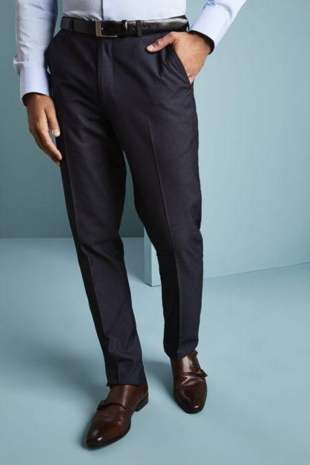 kalhoty manažerské žraločí modrá