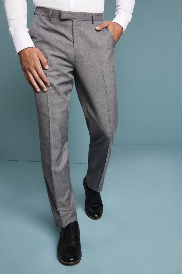 kalhoty pánské slim šedé