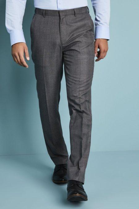 kalhoty pánské šedá kostka