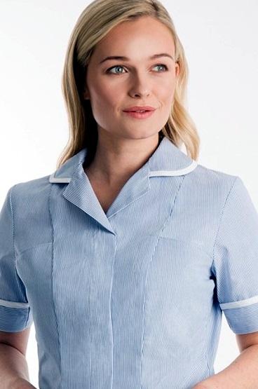 šaty pracovní jemný proužek