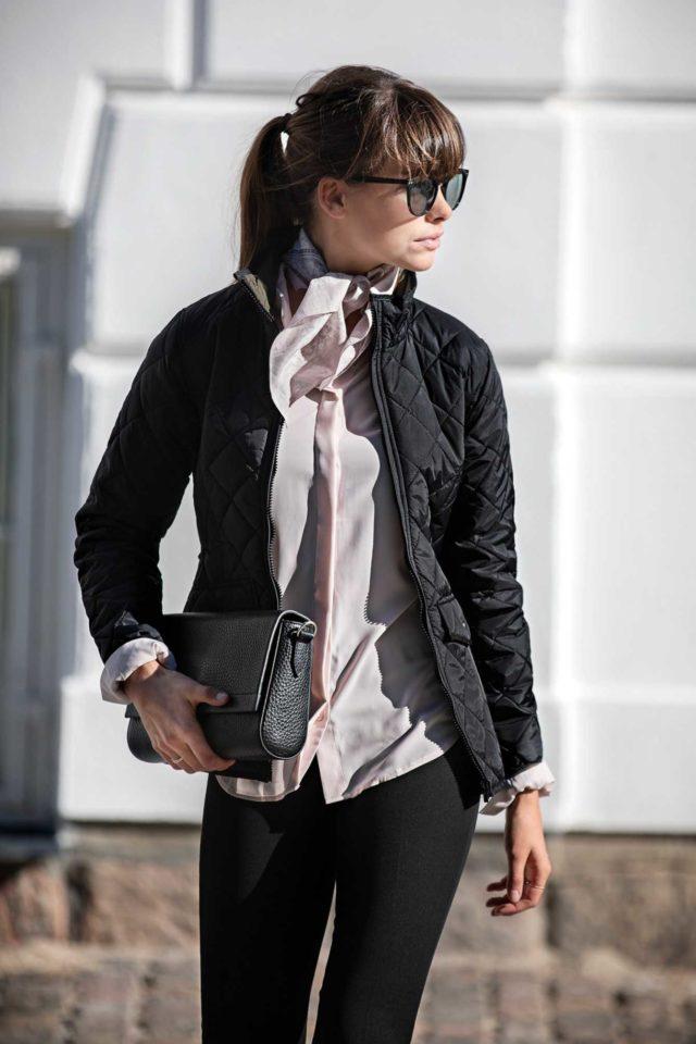 bunda dámská prošívaná oboustranná